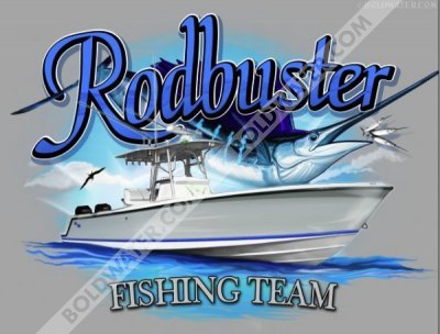 Rodbuster for Custom boat t shirts