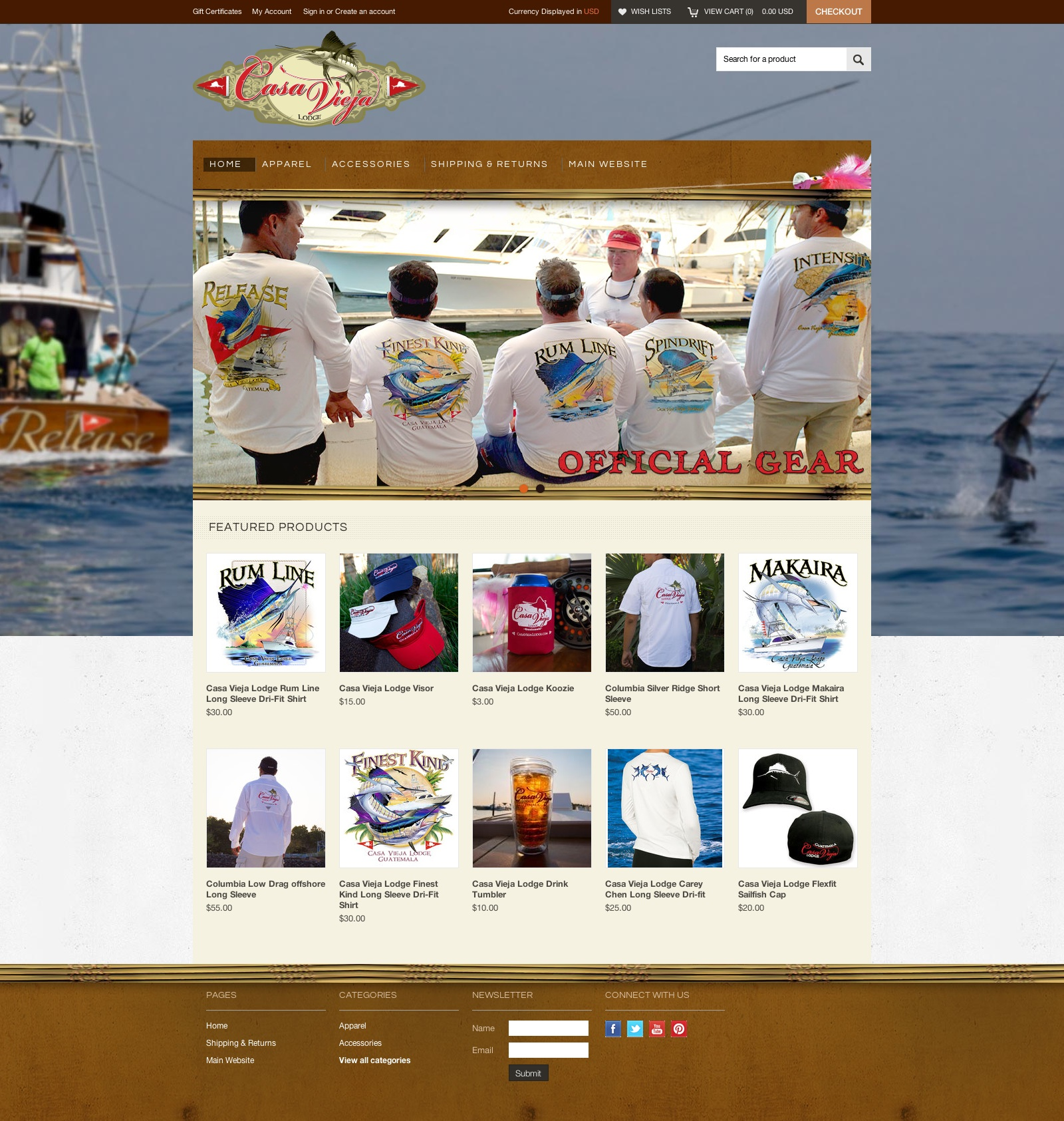 Casa vieja lodge online shop marine logos websites t for Shop on line casa