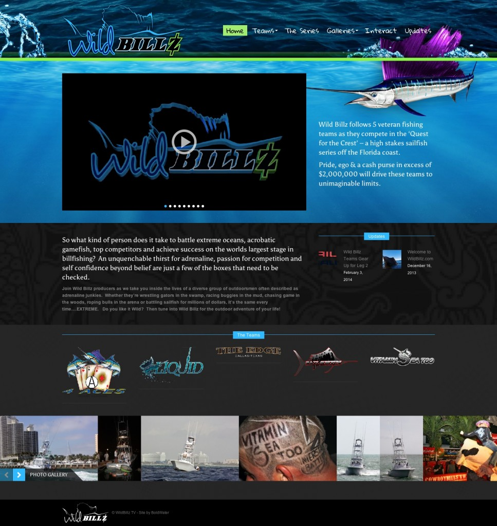 WildBillz TV - Follow 5 fishing teams in their Quest for the Crest!