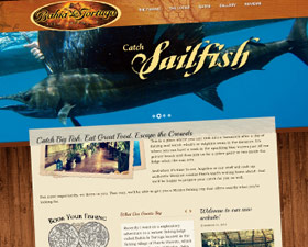 Fishing Lodge Web Design and Logo