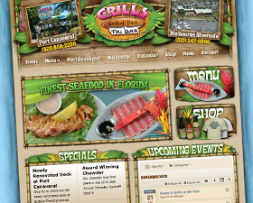 Grills Seafood Website with Smartphone App