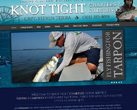 Fishing Guide website for Knot Tight Charters