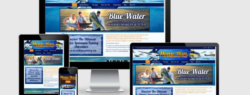 brand website marketing design for fishing charter lodge