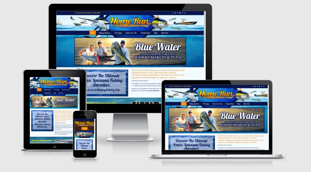 Brand website marketing design for fishing charter for Websites to create shirts