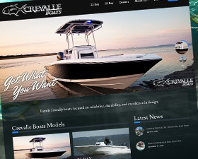 Crevalle Boats Logo and Website