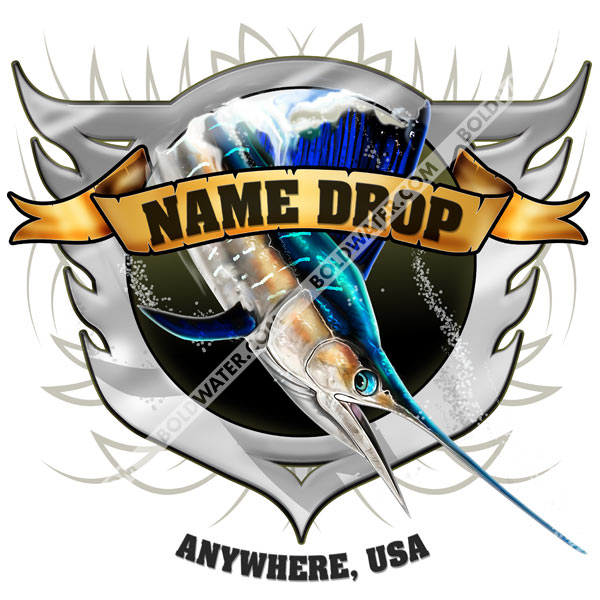 name drop shirts for fishing guides charters marinas tournaments