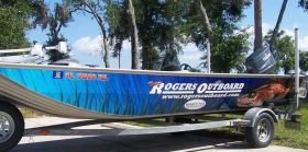 Rogers Outboard Boat Wrap
